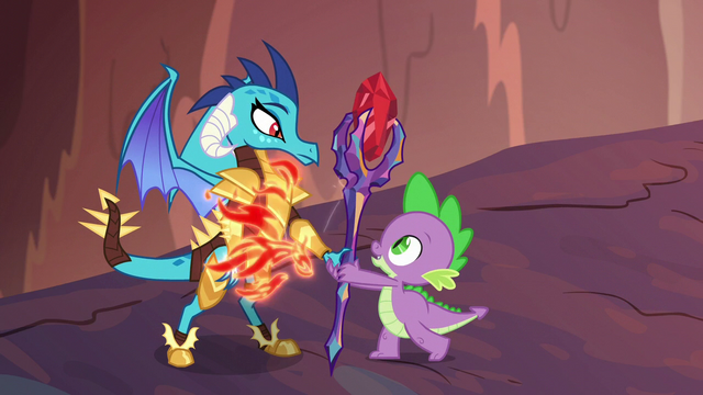 File:Spike gives Ember the bloodstone scepter S6E5.png