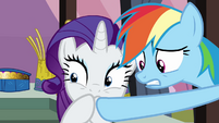 Rarity covering her mouth S3E2