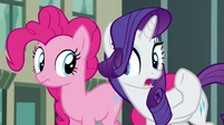 "Rarity in hushed tone ""what's the secret?"" S6E3"