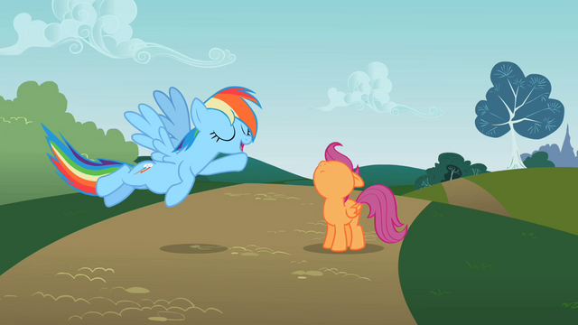 File:Scootaloo is still looking up S2E8.png