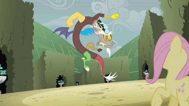 File:Discord snapping at Fluttershy S2E01.png