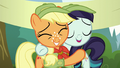 Applejack and Rara hugging S5E24.png
