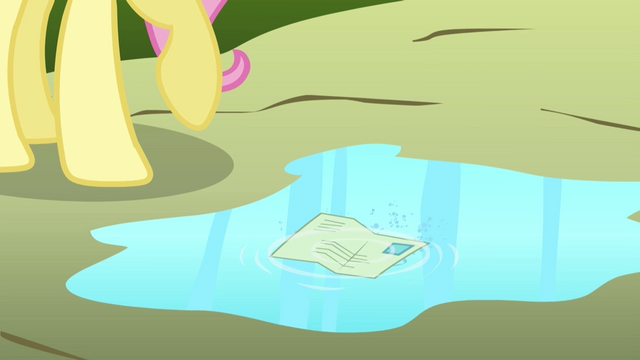File:Fluttershy's letter lands in a puddle S2E19.png