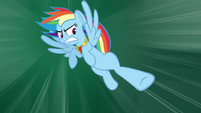 Rainbow Dash flying hoof kick S4E02