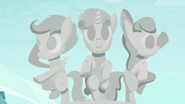 File:Sculpture of the Cutie Mark Crusaders S7E6.png