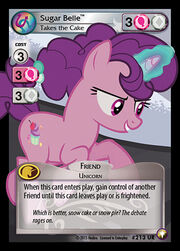 Sugar Belle, Takes the Cake card MLP CCG