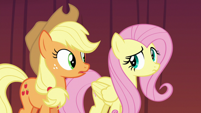 File:Applejack and Fluttershy looking nervous again S6E20.png