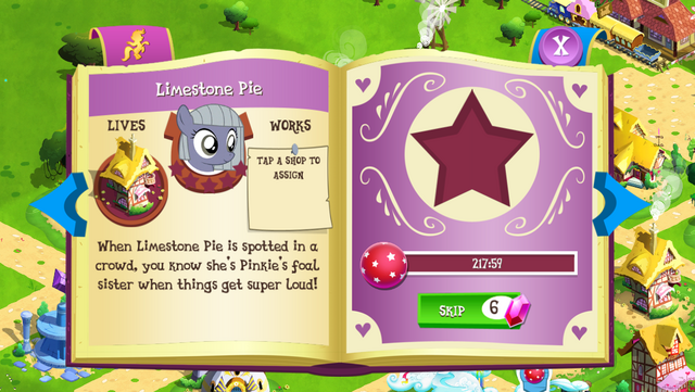 File:Limestone Pie album page MLP mobile game.png