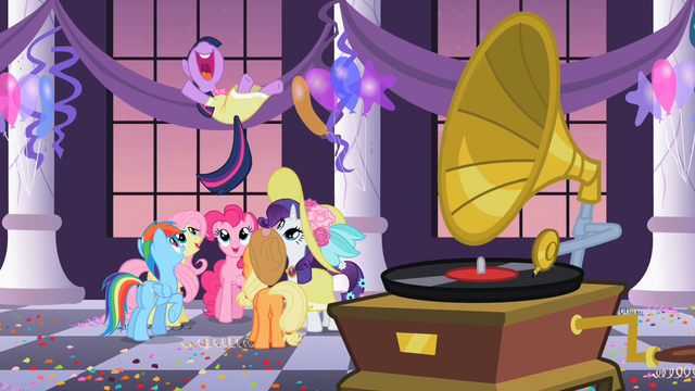 File:Main 6 at Twilight's birthday party S2E9.png