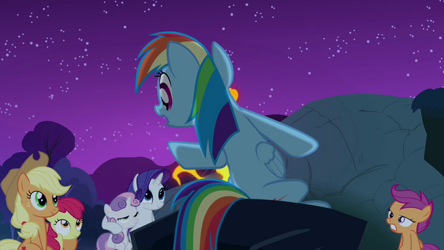 File:Rainbow Dash 'It gallops only at night' S3E06.png