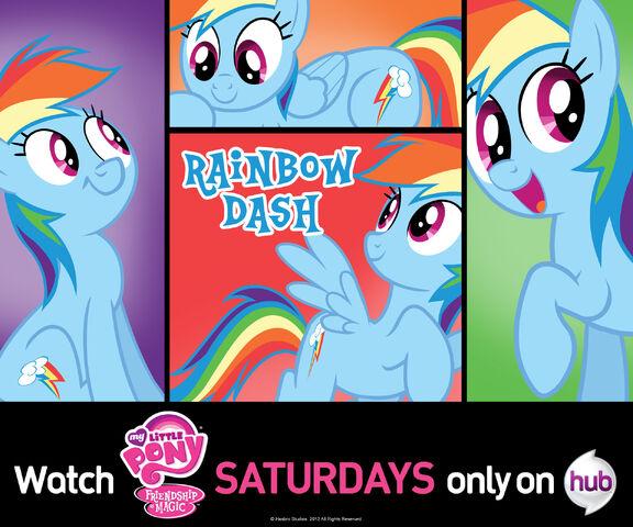 File:Rainbow Dash wallpaper from Hub Network.jpg