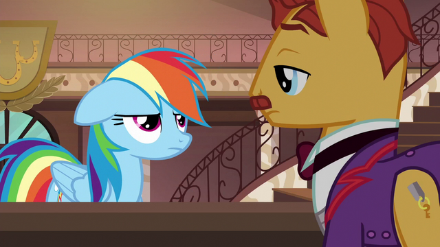 File:Rainbow annoyed by clerk's non-response S6E13.png