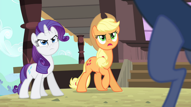 File:Applejack 'How do you know about her trip' S4E11.png