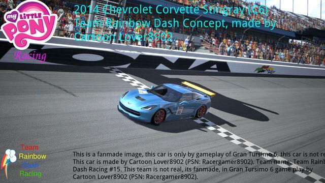 File:FANMADE MLP Racing Team RD's new corvette.jpg