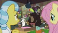 Fluttershy and Fauna look at still crowded clinic S7E5.png
