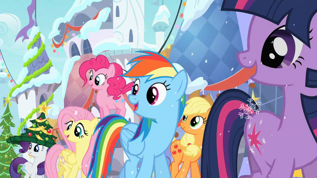 File:Main ponies in Canterlot S02E11.png