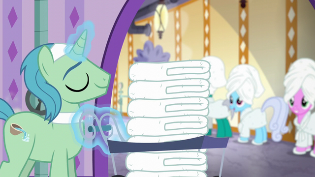 File:Spa Worker returns with fresh load of hot towels S6E10.png