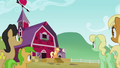 The Apples gathering to hear Applejack S3E08.png