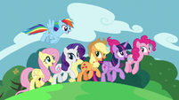 Mane Six trotting through spring S7E2