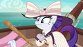 Pinkie offers pinata stick to elegant Rarity S6E22.png