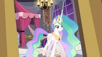 Princess Celestia leaves the room S04E01