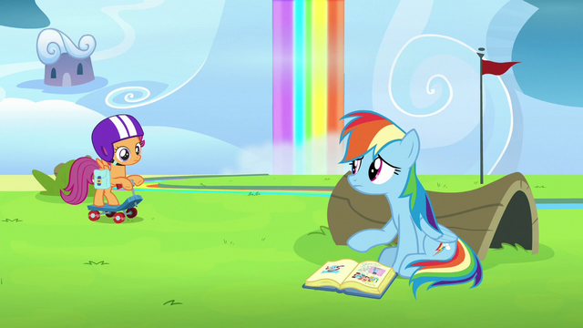File:Rainbow sitting down with Scootaloo's scrapbook S7E7.png