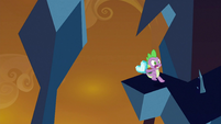 Spike running away from crystals S3E2