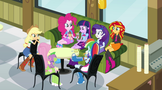 File:Twilight's circle of Canterlot High friends EG2.png