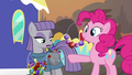 Pinkie Pie and Maud trade necklaces S4E18.png