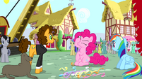 Pinkie Pie making Pinkie Promise gestures S4E12