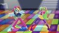 Rainbow Dash and Lemon Zest on dance floor EGS1.png