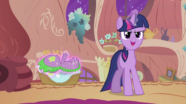 File:Twilight talking while levitating Spike onto the basket S2E02.png