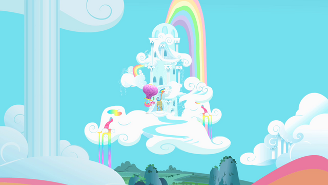 File:Pinkie Pie outside Dash's home S1E25.png
