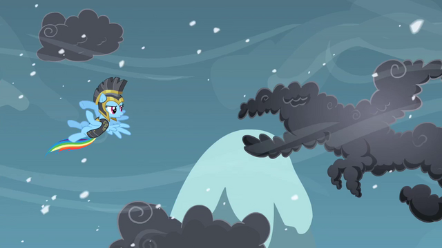 File:Rainbow Dash about to fight a cloud S2E11.png