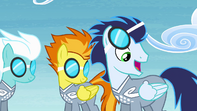 Soarin cheers Ponyville team on S4E10.png
