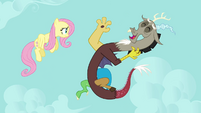 "Discord and Fluttershy ""you're hilarious!"" S03E10"