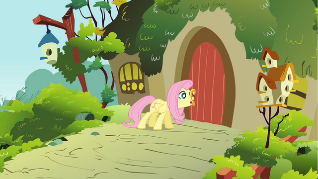 File:Fluttershy opening the door S01E10.png