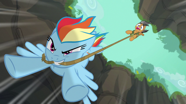 File:Rainbow dragging Quibble through the air S6E13.png