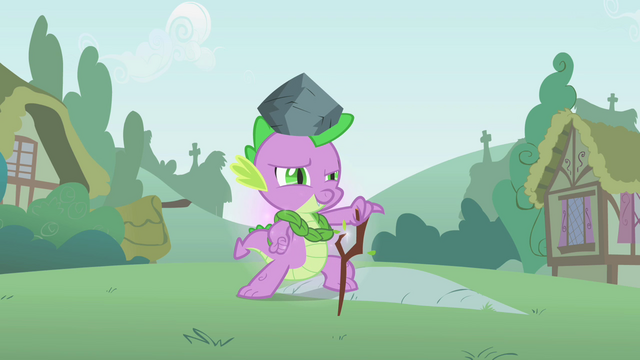 File:Spike helping Twilight practice a spell S1E15.png