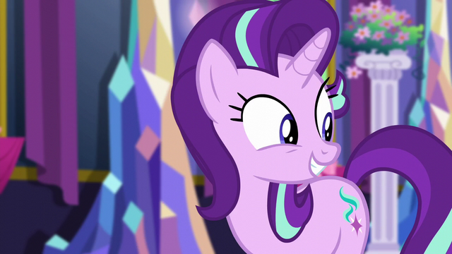 File:Starlight Glimmer hears Trixie enter S6E6.png