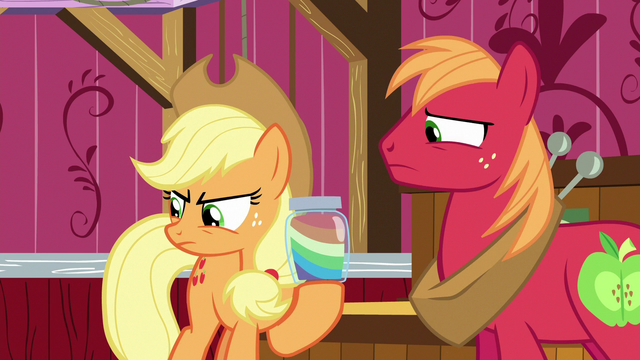 File:Applejack and Big Mac disappointed in Apple Bloom S6E23.png