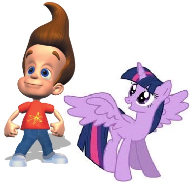 File:FANMADE Twilight Sparkle (Alicorn) & Jimmy Neutron.jpg