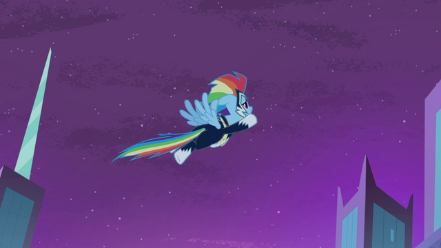 File:Rainbow Dash flying into the sky S4E06.png