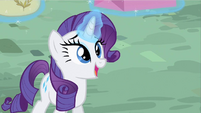 Rarity smiling S2E9