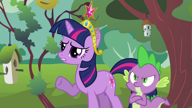 File:Twilight concerned and Spike fuming S03E10.png