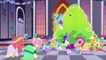 Gala ponies cheer for Tree Hugger S5E7.png