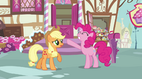 Applejack worried about Pinkie Pie S3E07
