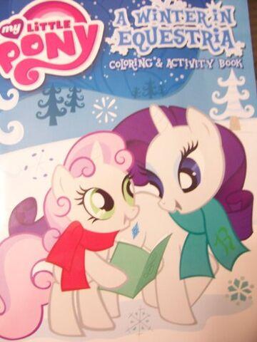 "File:""A Winter in Equestria"" Coloring Book.jpg"