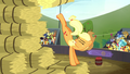 Applejack kicks up another hay bale S5E6.png