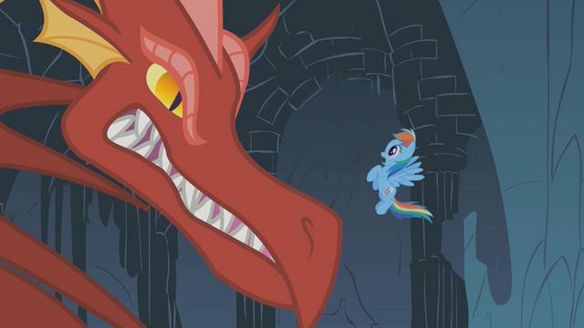File:Dragon growls at Rainbow Dash S01E07.png